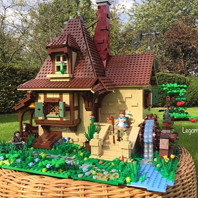 "Compare to Belle's house in the movie and see how the builder nailed it! Credit: @legomaniak76 - ""Belle's House from Disney's Beauty and the Beast"". #lego #afol #beautyandthebeast #legophoto #legoland #legophotography #legominifigures #legomania #legomovie #legocity #legodisney #disney #toys #legomocs #legoideas #legostarwars #legofun #toyartistry #legoland #legos #legomoc #legostagram #legomania #legoart #legohouse"