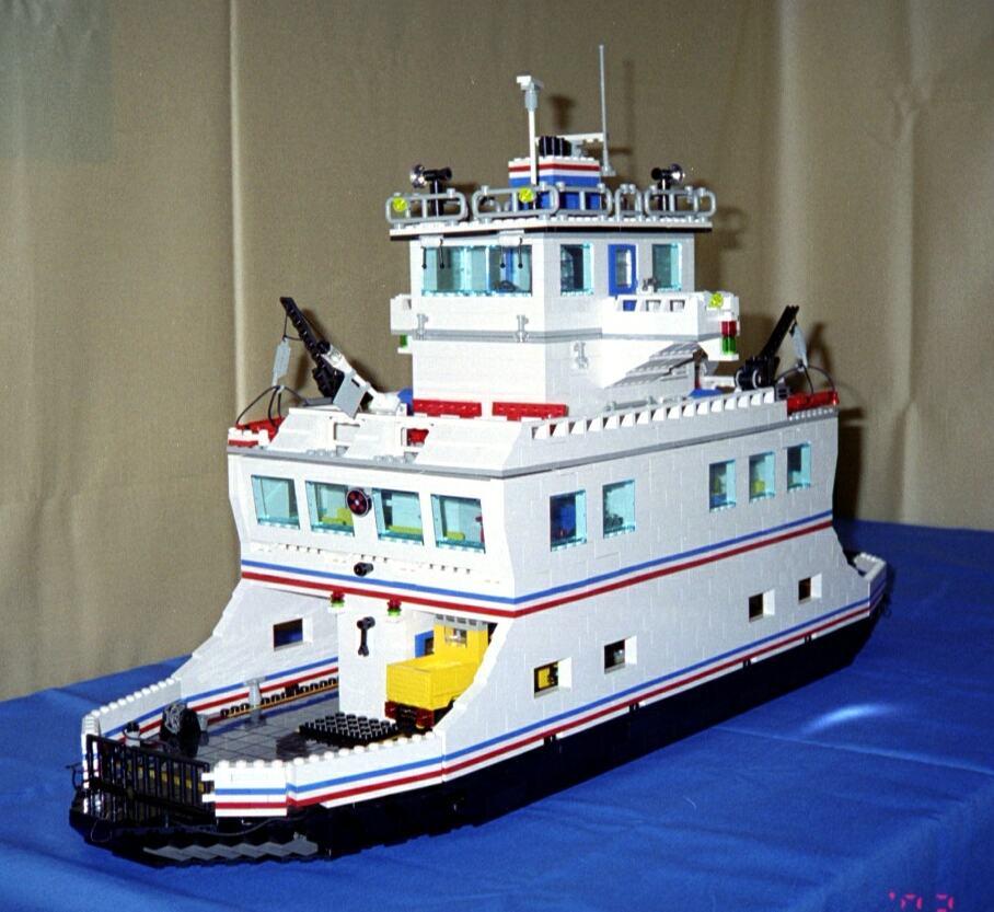 Car Ferry Downloadable Lego Instructions Lions Gate Models