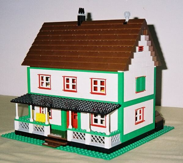 Farmhouse Downloadable Lego Building Instructions Lions Gate Models