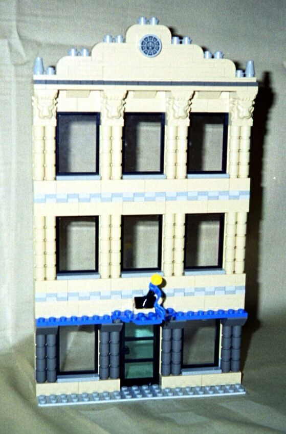 Tan Facade Downloadable Lego Building Instructions Lions Gate Models