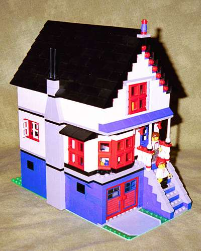 Victorian House Blue Downloadable Lego Building Instructions