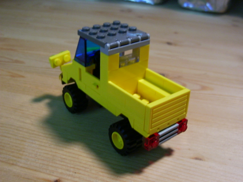 Yellow Pickup Truck Downloadable Lego Building Instructions Lions