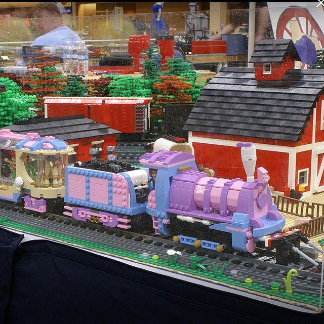 Pink and Purple LEGO Train MOC   Lions Gate Models